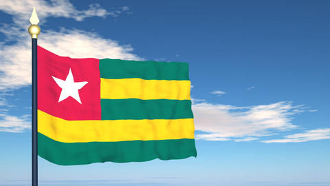 Flag Of Togo Stock Video Footage
