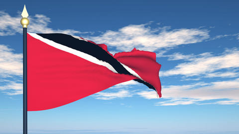 Flag Of Trinidad and Tobago Stock Video Footage