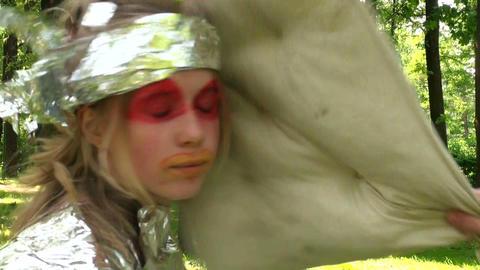 Children fight pillows Stock Video Footage