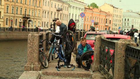 Repair bicycle Stock Video Footage