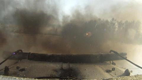 APC convoy Stock Video Footage