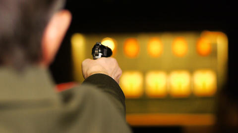 Shooting Range stock footage