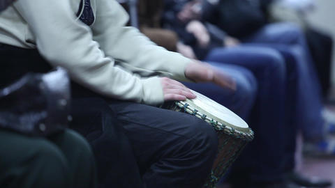 drummer in the subway Stock Video Footage