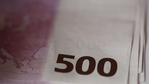 500 euro Stock Video Footage