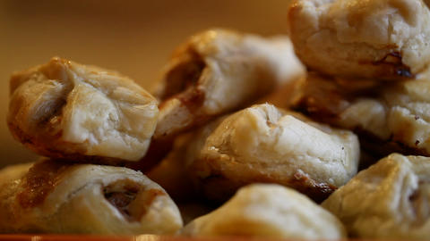 Pastries stock footage