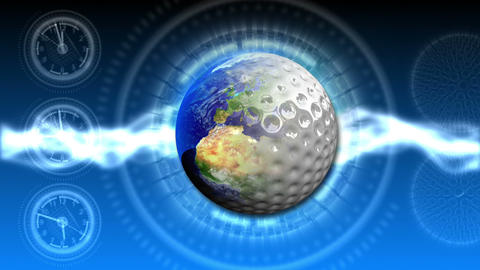 Golf World Background 46 (HD) Stock Video Footage