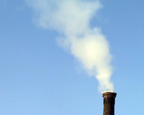 smoke from the chimney Stock Video Footage