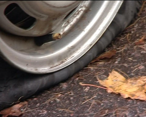 Wheel puncture Stock Video Footage