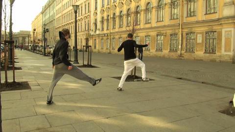 Rap on the street Stock Video Footage
