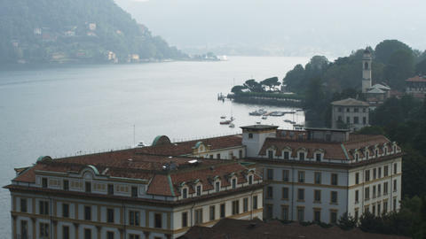 Shot of Lake Como from a hotel in Italy Live Action