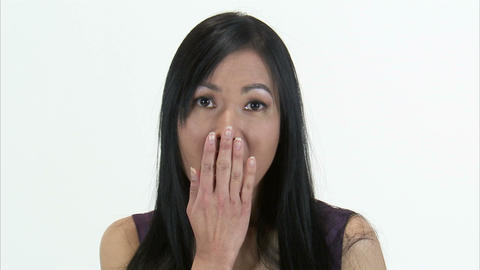 Close up shot of a woman with a surprised look on her face Live Action