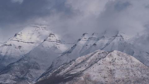 Snowy landscape in Utah Live Action