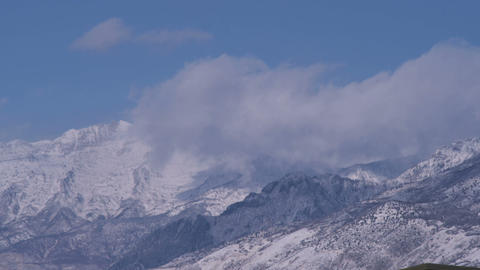 Snowy mountain landscape in Utah Live Action