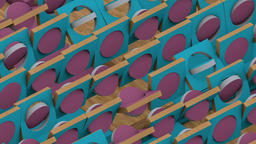 Abstract background with animation of the rotation of the mosaic of wooden ビデオ
