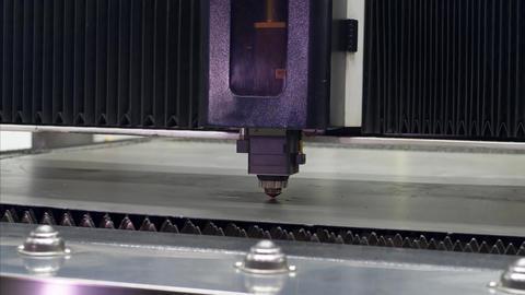 CNC Laser cutting of metal GIF