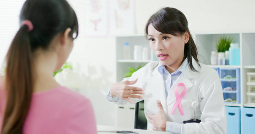 Breast cancer prevention concept Footage