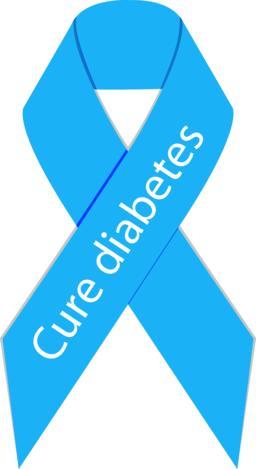 Cure diabetes ribbon symbol icon Vector