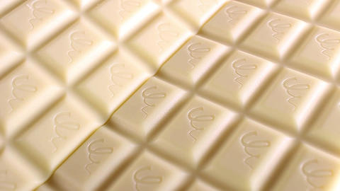 White chocolates chcolate bars bar food closeup texture pattern seamless looping Live Action