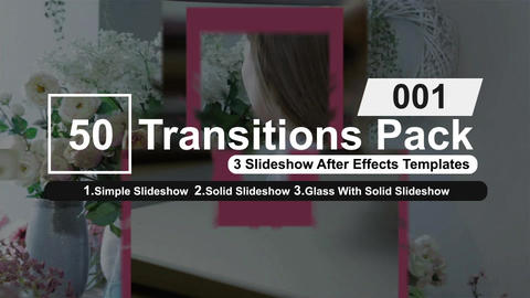 50 Transitions Pack -1 After Effects Template