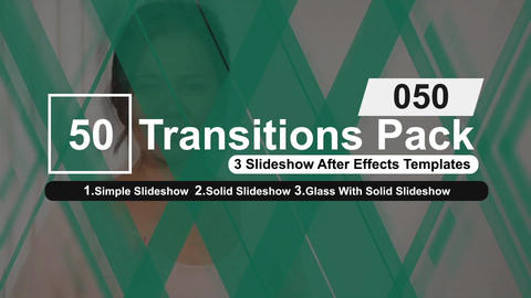 50 Transitions Pack -50 After Effects Template
