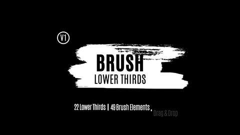 Brush Lower Thirds Premiere Proテンプレート