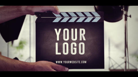 Clapper Studio Logo After Effects Template