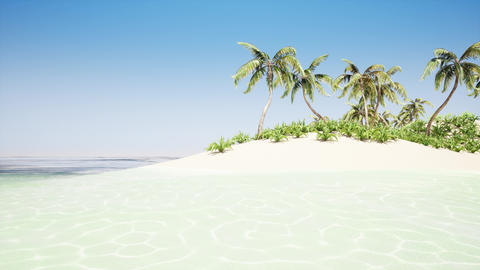 Beautiful tropical beach island Footage