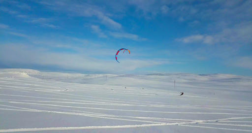 Snowkiting in the North Footage