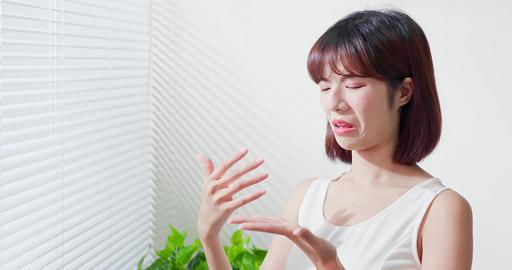asian woman afraid of suntan Live Action