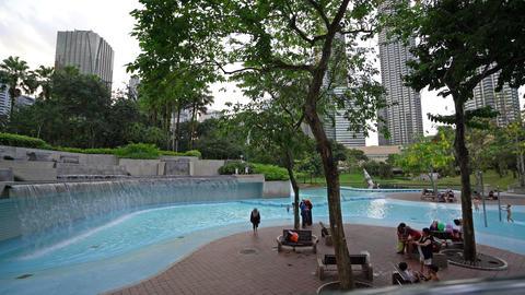KLCC park in Kuala Lumpur Footage
