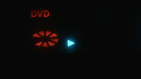 The display shows the symbols play, stop. Symbol disk dvd Live Action