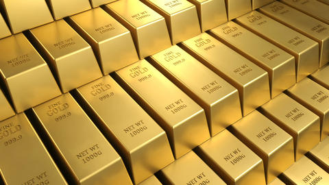 Gold bars moving 3d background loop v2 CG動画素材