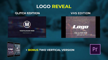 Logo Reveal - VHS & Glitch Edition Premiere Pro Template