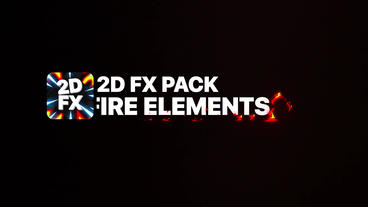 Fire Elements And Titles Motion Graphics Template