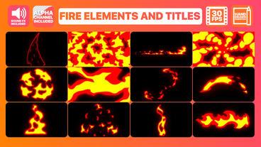 Fire Elements And Titles モーショングラフィックステンプレート