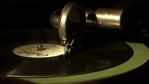 Record needle coming to the end of a record Footage