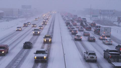 Winter storm traffic Footage