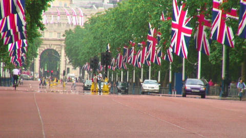 Admiralty Arch and the Mall in London Footage