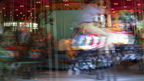 Spinning carousel in Central Park New York City Footage