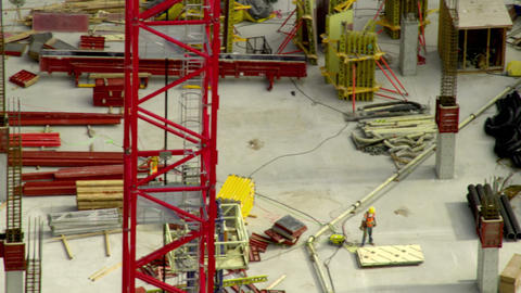 Panning, close up shot of City Creek Center construction in Salt Lake City Footage