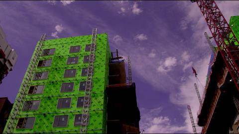 Skyscrapers under construction in Salt Lake City Utah Footage