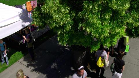 People at a farmer's market in Salt Lake City Utah Footage