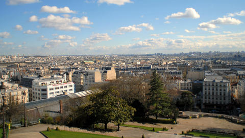 Time-lapse of Montmartre in Paris France Footage