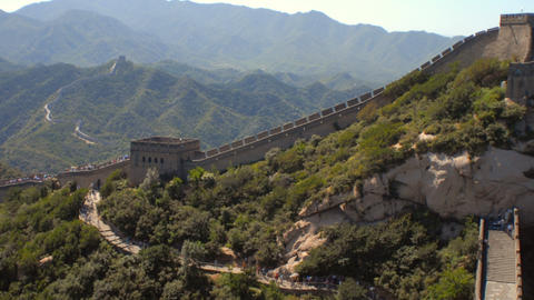 Time-lapse pan of the Great Wall of China ภาพวิดีโอ