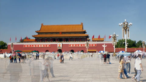 Tiananmen Square China time-lapse Footage