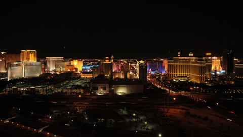 Time-lapse of Las Vegas at night with freeway traffic Footage