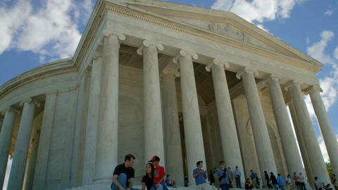 Time-laps of the Jefferson Memorial in Washington, D.C Footage