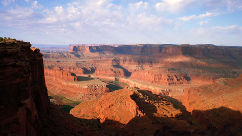 Partially shadowed canyons of Dead Horse Point in Utah Footage