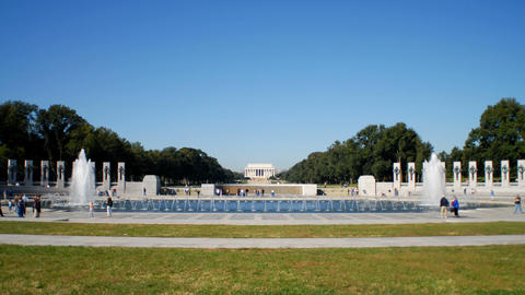 Time-lapse of the World War II Memorial in Washington, D.C Footage