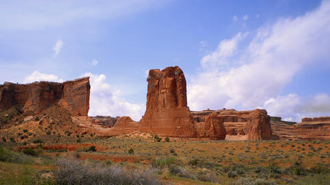 Time-lapse of rock tower at Arches National Park Live Action